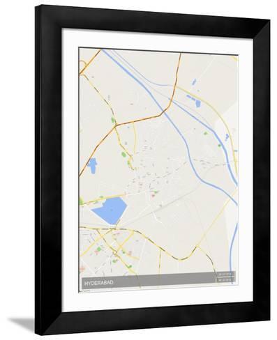 Hyderabad, Pakistan Map--Framed Art Print