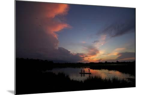 Illegal Fishermen On The Brahmaputra River At Sunset-Steve Winter-Mounted Photographic Print