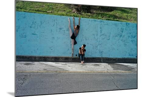 Classical Ballet In The Colonial Streets Of Old Havana-Kike Calvo-Mounted Photographic Print