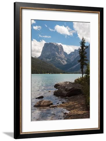 The Shore Of Upper Green River Lake And Square Top Mountain-Greg Winston-Framed Art Print