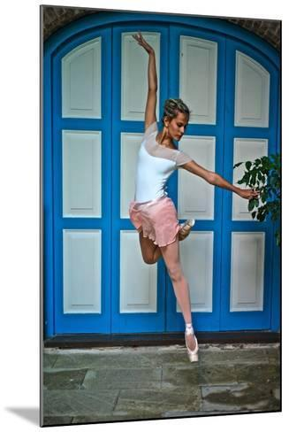 Ballet In The Colonial Streets Of Old Havana-Kike Calvo-Mounted Photographic Print