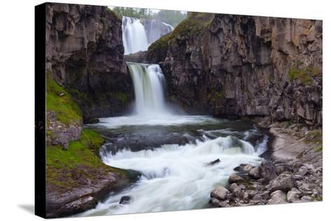 A Long Time Exposure Of White River Falls A Powerful Multi-Tiered Waterfall-Greg Winston-Stretched Canvas Print