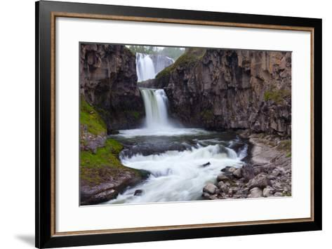A Long Time Exposure Of White River Falls A Powerful Multi-Tiered Waterfall-Greg Winston-Framed Art Print