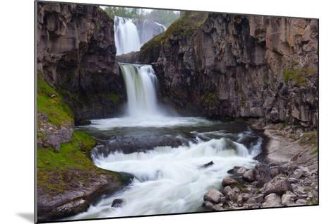 A Long Time Exposure Of White River Falls A Powerful Multi-Tiered Waterfall-Greg Winston-Mounted Photographic Print