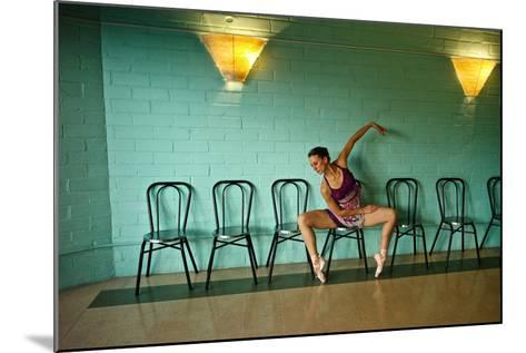 A Professional Dancer Warms Up For Her Daily Ballet Routine-Kike Calvo-Mounted Photographic Print