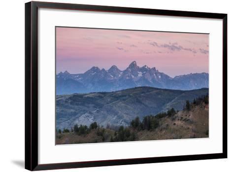 Sunrise Lighting Clouds Over The Teton And Gros Ventre Mountains, Bridger-Teton NF, Wyoming-Mike Cavaroc-Framed Art Print