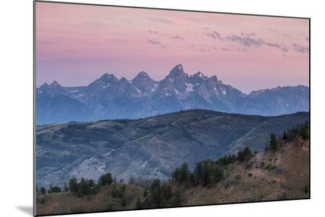 Sunrise Lighting Clouds Over The Teton And Gros Ventre Mountains, Bridger-Teton NF, Wyoming-Mike Cavaroc-Mounted Photographic Print