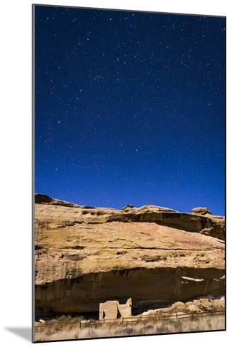 A Small Cliff Dwelling Ruin Located At The Gallo Campground Of Chaco Culture National Historic Park-Mike Cavaroc-Mounted Photographic Print