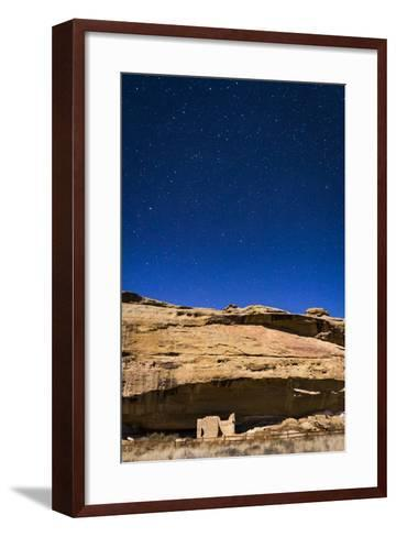 A Small Cliff Dwelling Ruin Located At The Gallo Campground Of Chaco Culture National Historic Park-Mike Cavaroc-Framed Art Print