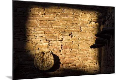 Light On The Walls At Pueblo Bonito Create An Abstract Photo In Chaco Culture NHP, New Mexico-Mike Cavaroc-Mounted Photographic Print