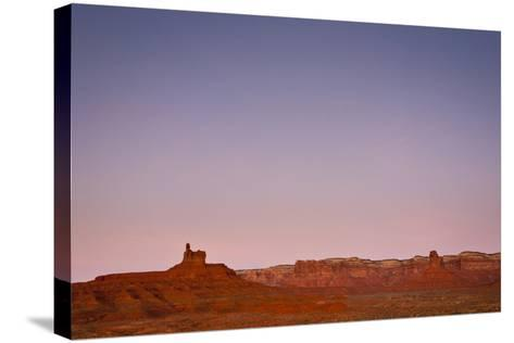 Ambient Dawn Light Casts Pastel Colors Over The Landscape Of Valley Of The Gods In Southern Utah-Mike Cavaroc-Stretched Canvas Print