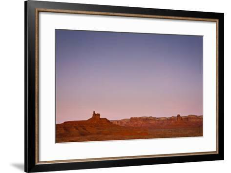 Ambient Dawn Light Casts Pastel Colors Over The Landscape Of Valley Of The Gods In Southern Utah-Mike Cavaroc-Framed Art Print