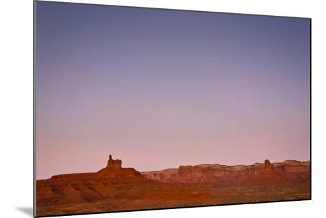 Ambient Dawn Light Casts Pastel Colors Over The Landscape Of Valley Of The Gods In Southern Utah-Mike Cavaroc-Mounted Photographic Print