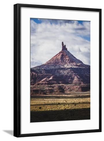 North Six Shooter Tower, Indian Creek, Utah-Louis Arevalo-Framed Art Print