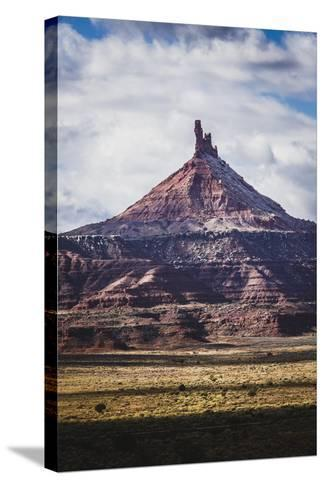 North Six Shooter Tower, Indian Creek, Utah-Louis Arevalo-Stretched Canvas Print