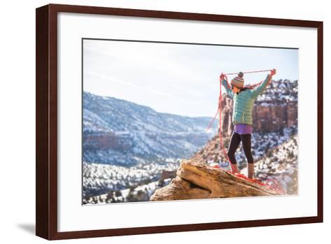 Harriet Ridley Coils A Line In Escalante Canyon, CO-Dan Holz-Framed Art Print