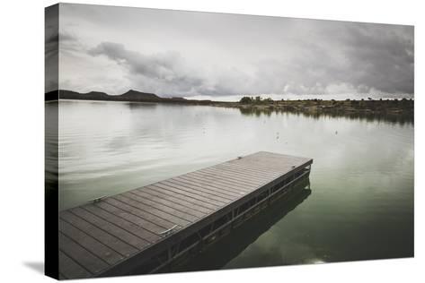 Boat Dock At Millsite Reservoir, Millsite State Park, Utah-Louis Arevalo-Stretched Canvas Print