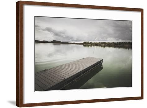 Boat Dock At Millsite Reservoir, Millsite State Park, Utah-Louis Arevalo-Framed Art Print