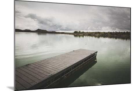 Boat Dock At Millsite Reservoir, Millsite State Park, Utah-Louis Arevalo-Mounted Photographic Print