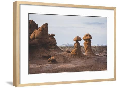 Sunset In The Valley Of Goblins, Goblin Valley State Park, Utah-Louis Arevalo-Framed Art Print