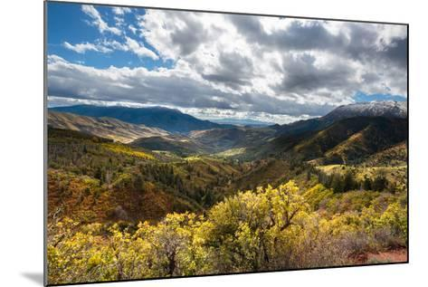 Fall Colors In The Wasatch Mt Range, A Viewpoint Along The Mount Nebo Scenic Byway In Central Utah-Ben Herndon-Mounted Photographic Print
