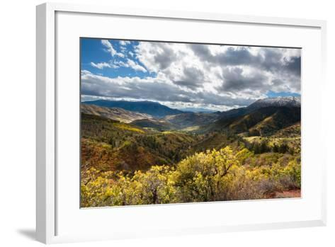 Fall Colors In The Wasatch Mt Range, A Viewpoint Along The Mount Nebo Scenic Byway In Central Utah-Ben Herndon-Framed Art Print