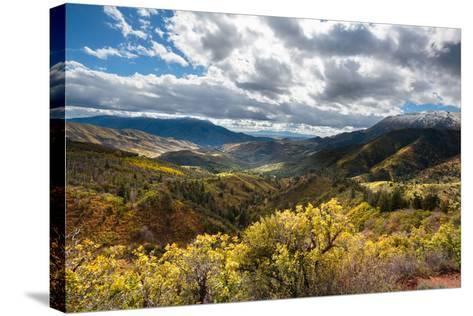 Fall Colors In The Wasatch Mt Range, A Viewpoint Along The Mount Nebo Scenic Byway In Central Utah-Ben Herndon-Stretched Canvas Print