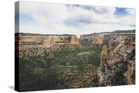 Monument Valley From Window Rock, Colorado National Monument-Louis Arevalo-Stretched Canvas Print