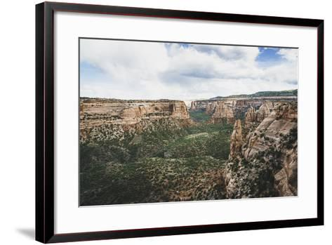Monument Valley From Window Rock, Colorado National Monument-Louis Arevalo-Framed Art Print