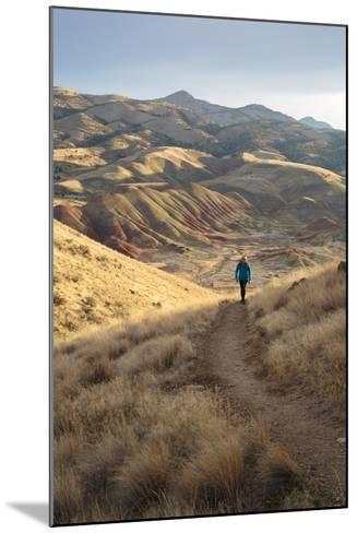 Bekah Herndon Hiking Along Carroll Rim Trail, John Day Fossil Beds National Monument Eastern Oregon-Ben Herndon-Mounted Photographic Print