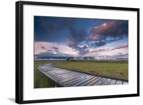 Breaking Rainstorm And The Nature Conservancy's Great Salt Lake Shorelands Preserve In Layton, Utah-Austin Cronnelly-Framed Art Print