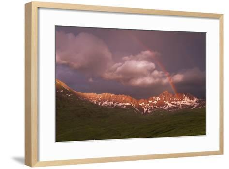 Rainbow Over Belleview Mt & Fravert Basin, While Backpacking Four Pass Loop, Near Aspen Colorado-Austin Cronnelly-Framed Art Print