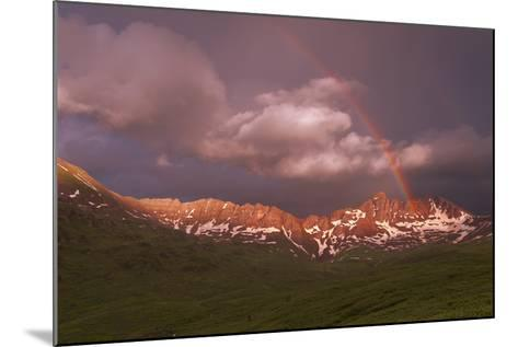 Rainbow Over Belleview Mt & Fravert Basin, While Backpacking Four Pass Loop, Near Aspen Colorado-Austin Cronnelly-Mounted Photographic Print