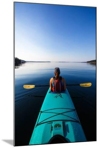 A Female Tandem Kayaker Enjoys The Still Waters Of Indian Cove Off Shaw Islands-Ben Herndon-Mounted Photographic Print