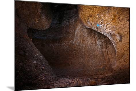 Joe Meiners Climbing Steep Cobble Stone In Maple Canyon, Utah-Ben Herndon-Mounted Photographic Print
