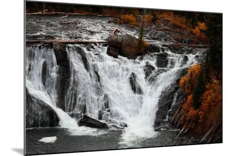 The 30 Foot Lewis Falls In Yellowstone National Park In Autumn-Ben Herndon-Mounted Photographic Print