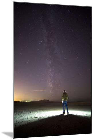 Under Milky Way In Playa Of Great Salt Lake At Antelope Island SP, Outside Of Salt Lake City, Utah-Austin Cronnelly-Mounted Photographic Print