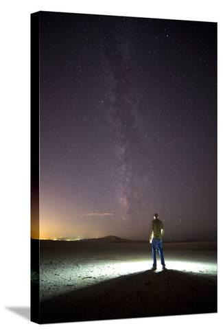 Under Milky Way In Playa Of Great Salt Lake At Antelope Island SP, Outside Of Salt Lake City, Utah-Austin Cronnelly-Stretched Canvas Print