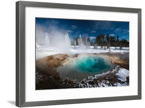 Tropic-Blue Of Silex Spring Along The Fountain Paint Pot Nature Trail In Yellowstone National Park-Ben Herndon-Framed Art Print