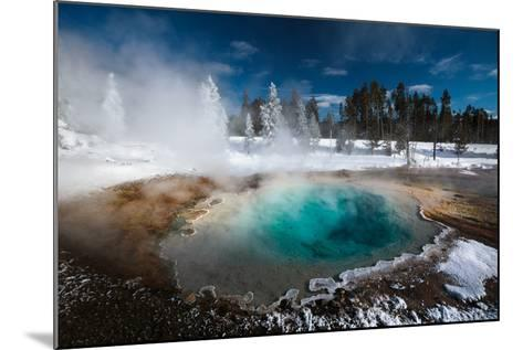 Tropic-Blue Of Silex Spring Along The Fountain Paint Pot Nature Trail In Yellowstone National Park-Ben Herndon-Mounted Photographic Print