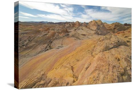 Hiking In The Backcountry Of Valley Of Fire-Austin Cronnelly-Stretched Canvas Print