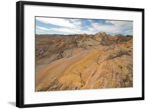 Hiking In The Backcountry Of Valley Of Fire-Austin Cronnelly-Framed Art Print