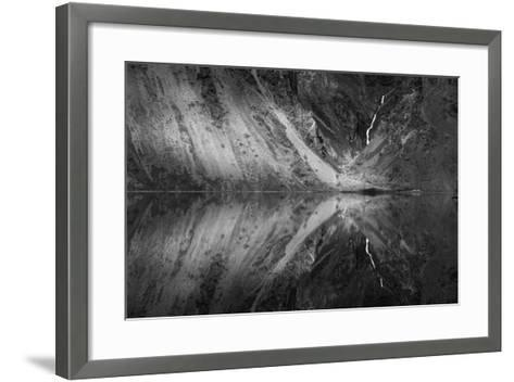 Snow Melt Infused Kirby Creek Illuminated By Light Between Clouds, Snake River, Hells Canyon, Idaho-Ben Herndon-Framed Art Print