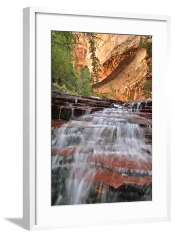 Close Up View Of Arch Angel Falls, Near The Subway In The Back Country Of Zion National Park, Utah-Austin Cronnelly-Framed Art Print