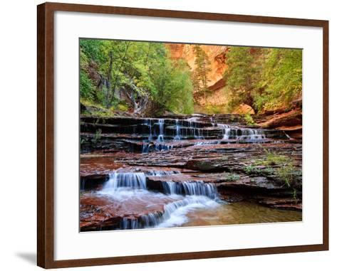 Arch Angel Falls, Near The Subway In The Back Country Of Zion National Park, Utah-Austin Cronnelly-Framed Art Print