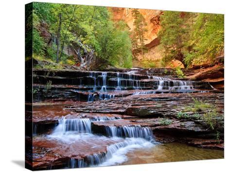 Arch Angel Falls, Near The Subway In The Back Country Of Zion National Park, Utah-Austin Cronnelly-Stretched Canvas Print