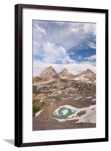 Vertical View Of The Backside Of The Tetons From Hurricane Pass In Grand Teton NP, Wyoming-Austin Cronnelly-Framed Art Print