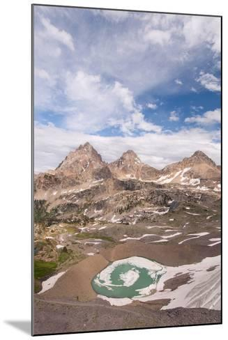 Vertical View Of The Backside Of The Tetons From Hurricane Pass In Grand Teton NP, Wyoming-Austin Cronnelly-Mounted Photographic Print
