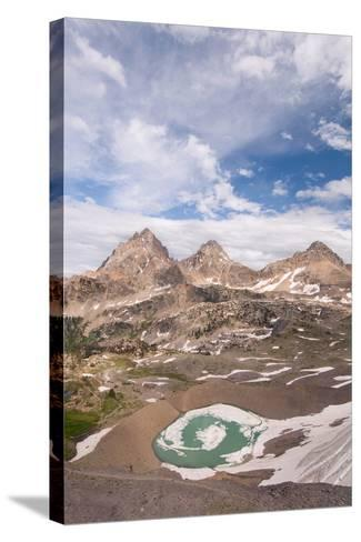 Vertical View Of The Backside Of The Tetons From Hurricane Pass In Grand Teton NP, Wyoming-Austin Cronnelly-Stretched Canvas Print