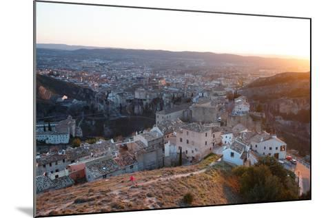 Bekah Herndon Goes For A Run At Sunset Above The Medieval Old Town Section Of Cuenca, Spain-Ben Herndon-Mounted Photographic Print